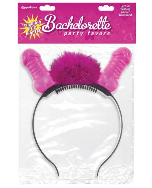 Bachelorette Party Favors Flashing Light Up Pecker Headband-LoveBoxToys.com