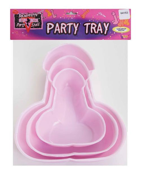 Bachelorette Penis Party Trays - Pack Of 3-LoveBoxToys.com