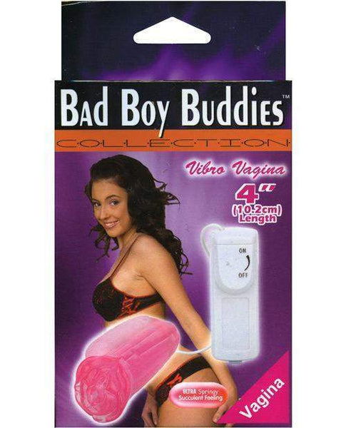 Bad Boy Buddies Vibrating Vagina - Pink-LoveBoxToys.com