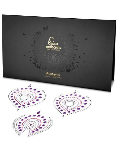 Bijoux Indiscrets Flamboyant Skin Jewelry - Pink-purple-LoveBoxToys.com