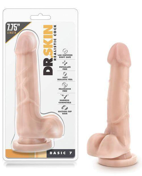 Blush Dr. Skin Basic 7 W-suction Cup-LoveBoxToys.com