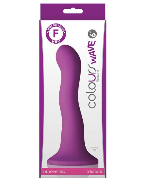 "Colours Wave 6"" Dildo - Purple-LoveBoxToys.com"