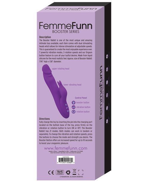 Femme Funn Booster Rabbit - Purple-LoveBoxToys.com