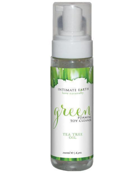 Intimate Earth Green Tea Tree Oil Foaming Toy Cleaner 200ml-LoveBoxToys.com