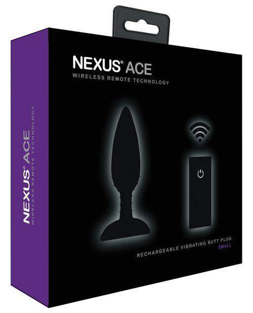 Nexus Ace Remote Control Butt Plug Small - Black-LoveBoxToys.com