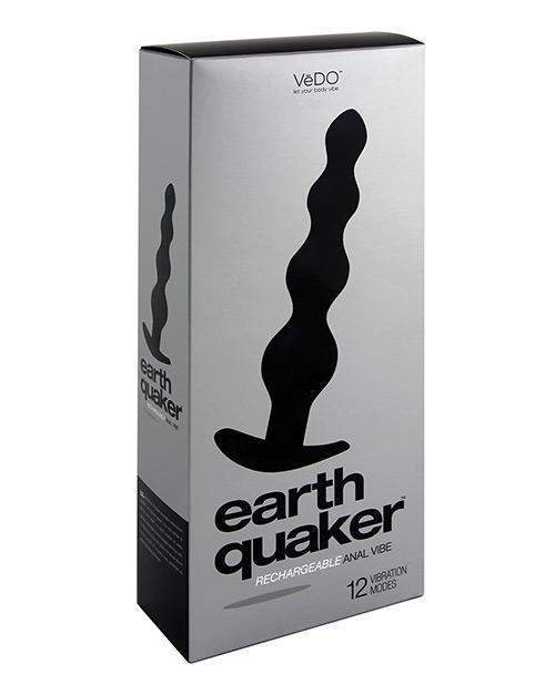 Vedo Earth Quaker Anal Vibe - Just Black-LoveBoxToys.com