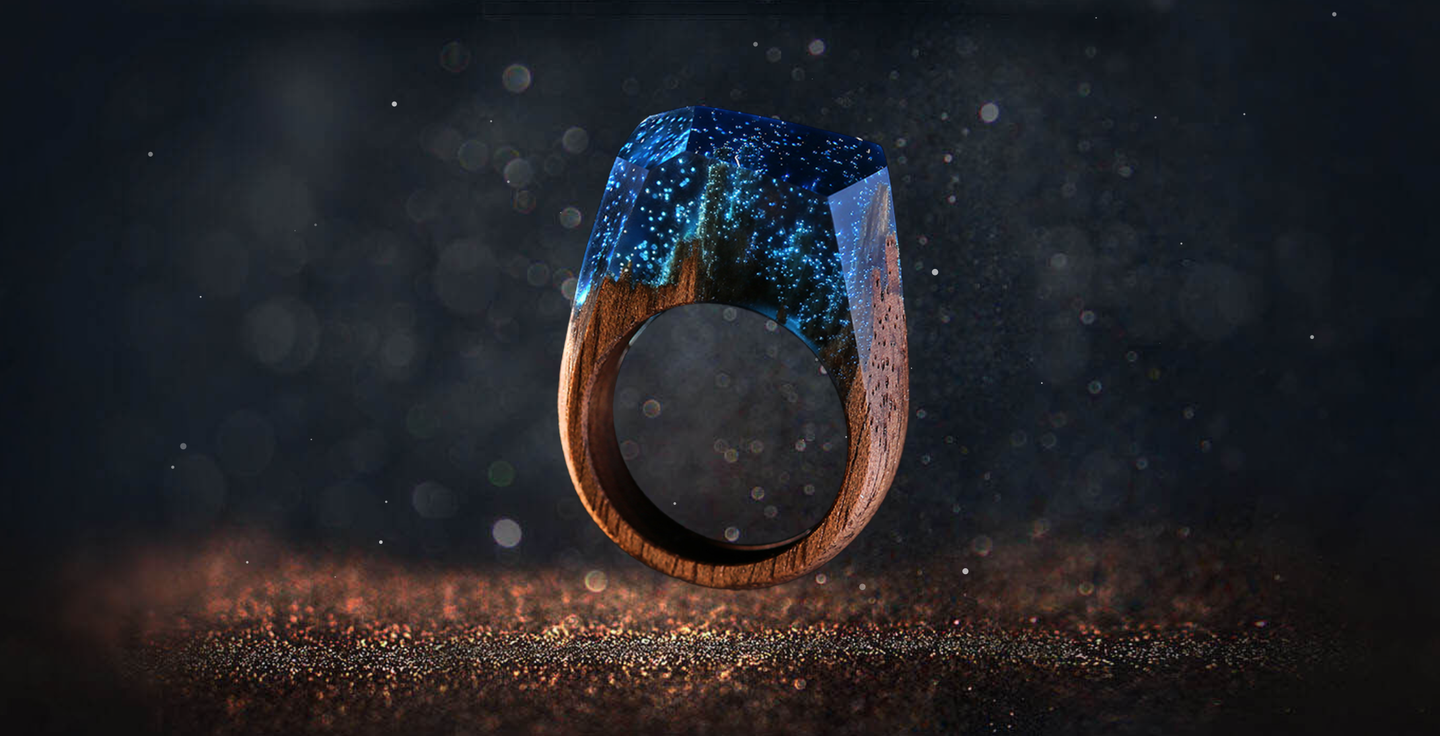 Wooden Resin Rings