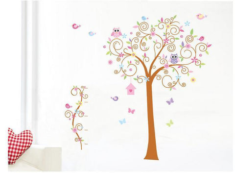 Owl and Tree Wall Sticker
