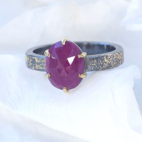 Stardust Ruby Ring