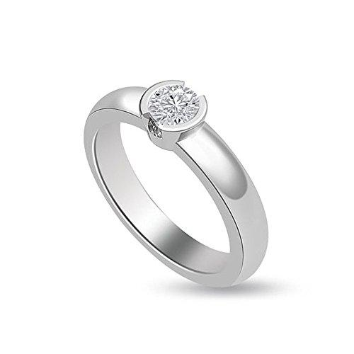 0.30ct H/SI1 Solitaire Diamond Engagement Ring for Women with Round Brilliant cut Diamonds in 950 Platinum