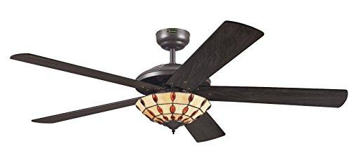 Westinghouse Comet Tiffany Ceiling Fan - Espresso