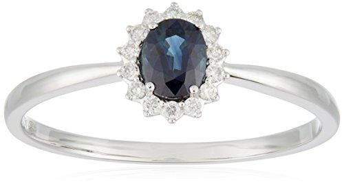 All My Jewellery Ring, 18ct White Gold, Sapphire badm 07073-0001 gray
