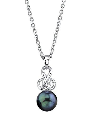 7.5-8.0mm Black Akoya Cultured Pearl Adrian Pendant