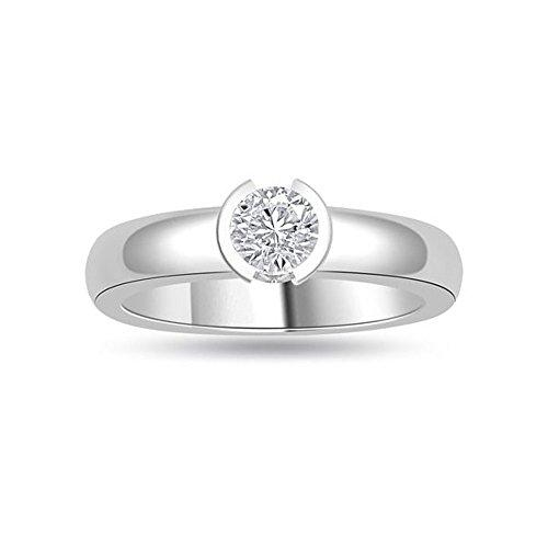 0.20ct H/SI1 Solitaire Diamond Engagement Ring for Women with Round Brilliant cut Diamonds in 950 Platinum