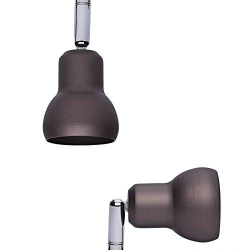 Biard Brooklyn 4 Way Adjustable Spotlight Bar Ceiling Light Fitting GU10 Metallic Chocolate (LED Compatible) - Bedroom, Living or Dining Room