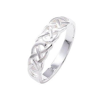925 Sterling Silver Ring Celtic Knot Design