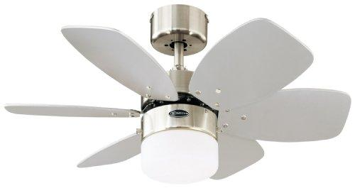 Westinghouse Flora Royale Ceiling Fan - Satin Chrome