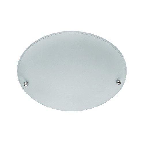 30cm Modern Round Frosted White Glass Ceiling Flush Light Fitting by Laeto Lighting