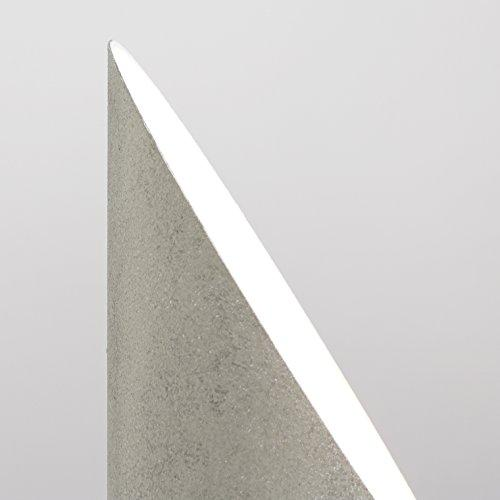 Modern Cement Stone Effect Metal Table/Floor Standing Uplighter Wall Wash Lamp