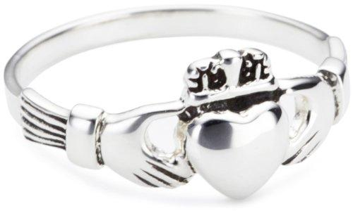 Heritage Women's Sterling Silver Celtic Irish Claddagh Ring - Size - M