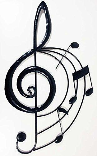 New Contemporary Metal Wall Art Decor Sculpture - Music Treble Clef Scroll