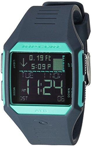 Rip Curl 'Maui' Quartz Plastic and Polyurethane Sport Watch, Color:Blue (Model: A1126G-SLT)