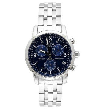 Tissot T17158642  Men's T-Sport PRC200 Chronograph Stainless Steel Blue Dial Watch