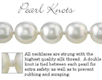 14K Gold 10-11mm White Freshwater Cultured Pearl Necklace, 18 Inch Princess Length