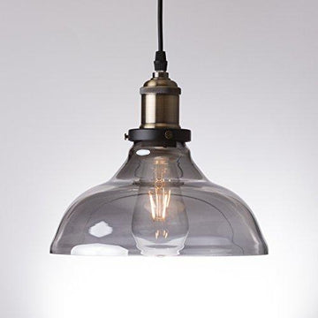 Ledmasters Smoked Glass Pendant Light Vintage Retro Industrial Ceiling