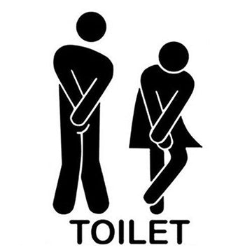 Wall Stickers , Honestyi 2017 Removable Cute Man Woman Washroom Toilet WC Sticker Family DIY Decor,About 13*22cm(W*H),PVC (Black)