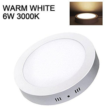 Ceiling LED Panel Downlight 6W Warm White Round Flush Mount Ceiling Light Commercial Lamp for Living Room Bedroom Kitchen Dining Room Bathroom Hallway Office Shop Garage Lighting XYD®