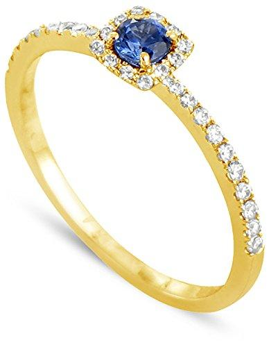 All My Jewellery Ring - 9 ct Yellow Gold Sapphire badm 07112-0001 yellow