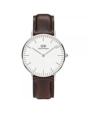 DANIEL WELLINGTON - Watch Daniel Wellington BRISTOL Ref DW00100056-Ø36-SV-leather