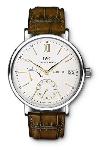 IWC Men's 45mm Brown Leather Band Steel Case S. Sapphire Automatic Silver-Tone Dial Analog Watch IW510103