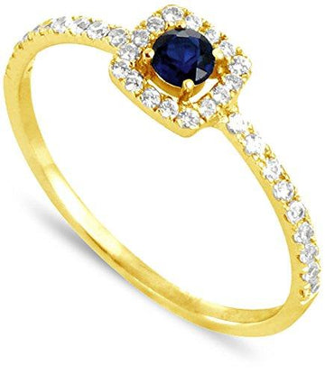 All My Jewellery Ring - 9 ct Yellow Gold Sapphire badm 07082-0001 yellow