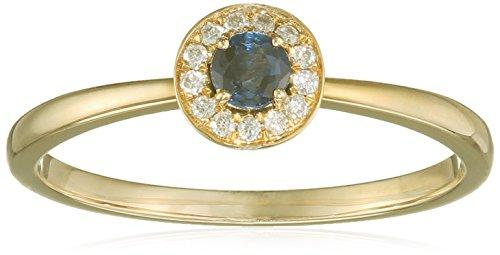 All My Jewellery Ring - 9 ct Yellow Gold Sapphire badm 07058-0001 yellow