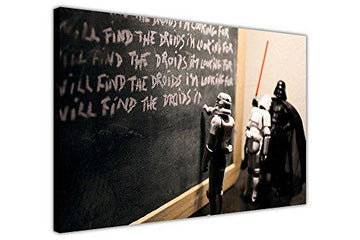 STAR WARS DARTH VADER DETENTION KIDS CANVAS QUOTE WALL ART PICTURES POP ART PICTURE HOLLYWOOD PHOTO PRINTING