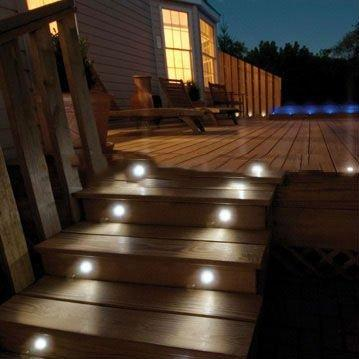 4 X Mini Brick Light LED Outdoor Step Light 70mm Square IP54 Cool White Recessed Wall Light