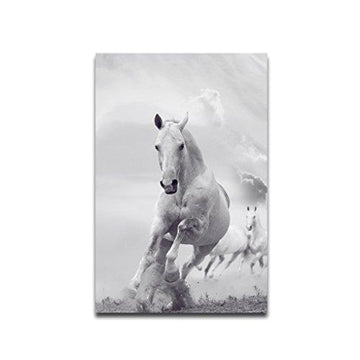 Sunlera Cloud Running Horse Oil Painting Unframed Animal Printed Canvas Wall Pictures Home Decoration Oil Pictures Posters