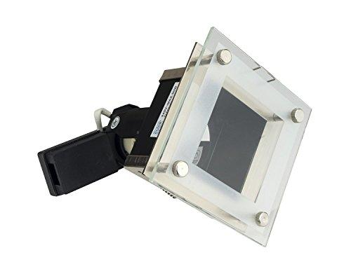 10 Pack: Click Lighting Fixed Downlight GU10 / GZ10 Recessed Fitting Downlighter Ceiling Square Spotlight w/ FREE 5W LED in Gun Metal Finish