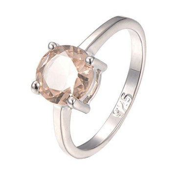 Morganite 925 Sterling Silver Filled Filled Ring Size Q
