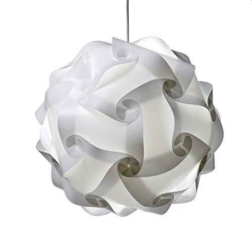 XL Ceiling Lamp Shade white - Modern Pendant Jigsaw Lighting Size : XL- Flatpack 35 cm Diameters After Assemble