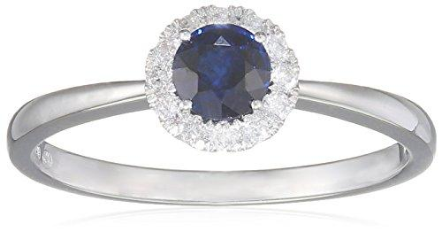 All My Jewellery Ring, 18ct White Gold, Sapphire badm 07049-0001 gray