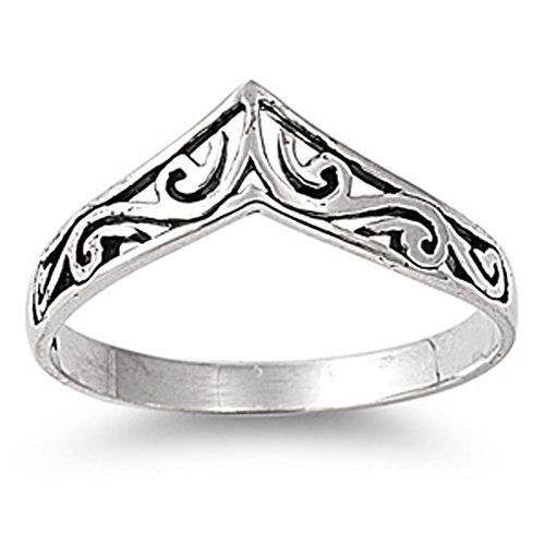 Sterling Silver Women's Celtic Design Cute Ring Promise 925 Band 8mm