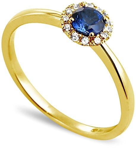 All My Jewellery Ring, 18ct Yellow Gold Sapphire badm 07052-0001 yellow