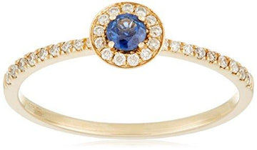 All My Jewellery Ring - 9 ct Yellow Gold Sapphire badm 07100-0001 yellow