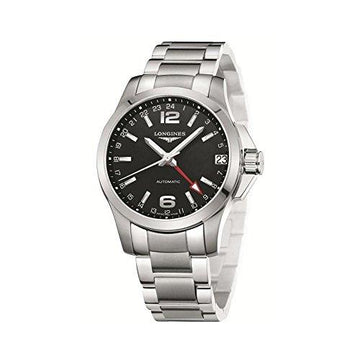 Watch Longines Man Automatic l36874566 quandrante Black Strap Stainless Steel
