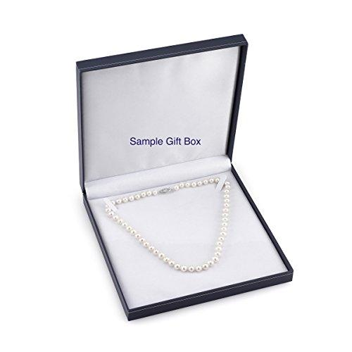 "14K Gold 5.0-5.5mm Japanese Akoya White Cultured Pearl Necklace - AA+ Quality, 16"" Choker Length"