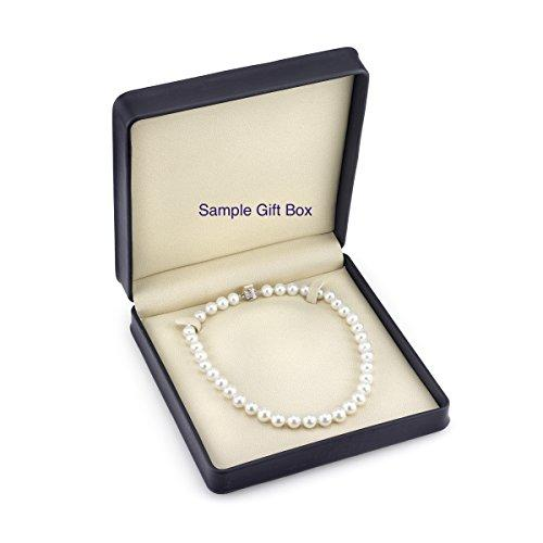 14K Gold 10-11mm White Freshwater Cultured Pearl Necklace, 17 Inch Princess Length