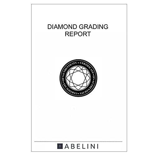 Abelini 1/2 Carat Certified I1/HI 100% Natural Round Solitaire Diamond Engagement Rings for Women In 9K White Gold